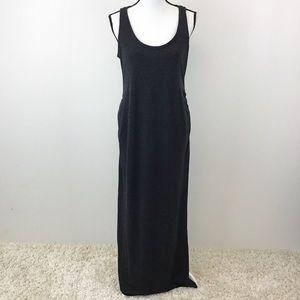 Old Navy Dark Gray Maternity Maxi Dress